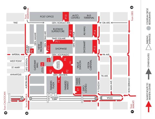 Cubao Araneta Map Araneta Center Map