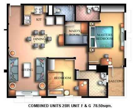 2BR unit with balcony