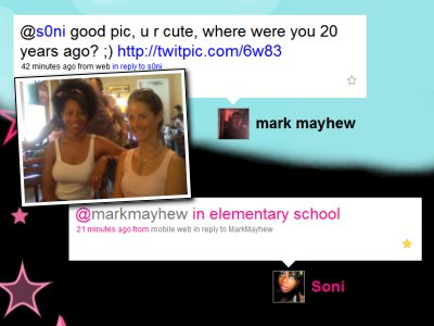 Mark Mayhew and S0ni Twitter conversation